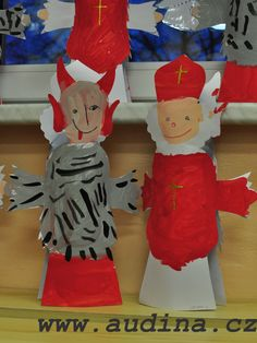 Čert a Mikuláš na umělohmotné lahvi was last modified: Květen 2016 by Easter Crafts For Kids, Elf On The Shelf, Holiday Decor, Character, Easter Crafts For Toddlers, Lettering