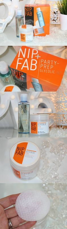 Nip + Fab Glycolic Pads and Cleanser Review and Photos - http://pinkparadisebeauty.blogspot.co.uk/2015/12/nip-fab-party-prep-glycolic-set-review.html