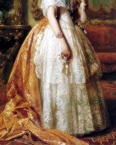 Portrait de Luisa Fernanda Montpensier (Détail) José de Madrazo y Agudo (1781-1859)