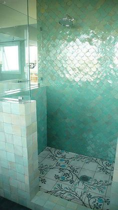 Love this! Mermaid bathroom tiled  #Cancer, #Moon in Leo, #Libra Rising