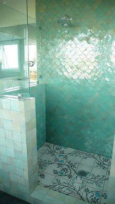 Mermaid bathroom tiled