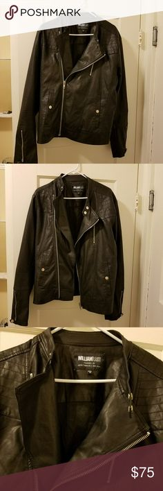 """William Rast """"jax"""" faux leather jacket NWOT Featuring a soft, tumbled look and feel, this """"jax"""" faux leather jacket from WILLIAM RAST showcases classic motorcycle-inspired details that has a style that'll always be timeless and never go out of style. Just recently purchased from macys in san francisco and I never even wore it out one time, I found a leather jacket I liked more the very next day and bought that one as well, so that's why I'm selling it so cheap. This jacket is so soft that it…"""