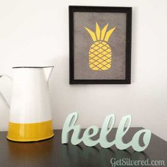 Stylized Pineapple Cutting File. Use to cut paper or make a stencil