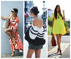 Idee looks per l'estate.. da indossare in città! Dal tocco di giallo alle spalle scoperte fino agli abiti lunghi. Ma quanto manca alle vacanze???