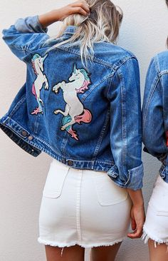 Sabrina's really embarrassed about her love of unicorns and tries to keep it on the down low, so Libby makes this jacket for her to show her that being who she is, wholly and totally, isn't a bad thing.  Sabrina does end up wearing it and loving it.