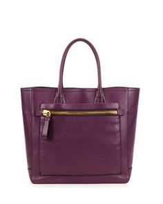 Tote Bag, Dark Purple by Tom Ford at Neiman Marcus.