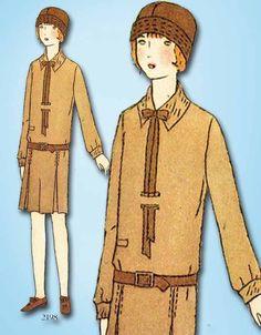 1920s Vintage Butterick Sewing Pattern 2198 Uncut Girls Flapper Dress Size 14  #Butterick #FlapperDressPattern