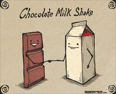 Funny pictures about Chocolate Milk Shake. Oh, and cool pics about Chocolate Milk Shake. Also, Chocolate Milk Shake photos. Cute Puns, Funny Puns, Funny Cartoons, Funny Humor, Science Cartoons, Funny Stuff, Cartoon Jokes, Memes Humor, Cat Memes