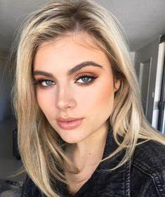 Beauty Make-up, Beauty Hacks, Hair Beauty, Natural Beauty, Prom Makeup Looks, Wedding Hair And Makeup, Blue Eye Makeup, Makeup For Brown Eyes, Pretty Eye Makeup For Blue Eyes