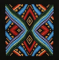 Quilted Tapestries:  the Bargellos of Dereck Lockwood
