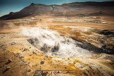 Hverir hotspots on North Iceland.