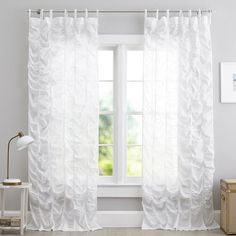 Find teen window treatments and more window coverings at Pottery Barn Teen. Shop a variety of window treatments and hardware perfect for teens. Teen Curtains, Bedroom Drapes, Panel Curtains, Window Coverings, Window Treatments, House Window Design, Mermaid Bedroom, Blackout Drapes, Bedroom Themes
