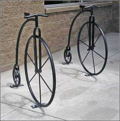 "Penny-farthing bike racks. Visit the Slow Ottawa ""Nice Racks' board for more unique designs."
