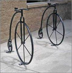 Penny-farthing bike racks. Visit the slowottawa.ca boards >> http://www.pinterest.com/slowottawa/boards/
