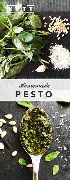 Homemade pesto Homemade Pesto, Recipies, Deserts, Healthy Recipes, Dinner, The Originals, Food, Recipes, Dining
