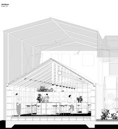 Project made in a small village in China (Denggao) where most of the population is growing old and the young are moving into bigger cities. This proposal tryes to solve the future of Denggao by Workshop Architecture, Detail Architecture, Architecture Graphics, Chinese Architecture, Architecture Office, Architecture Drawings, Futuristic Architecture, Office Buildings, Pavilion Architecture