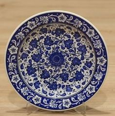 Turkish Traditional Hand made ,Hand Painted iznik Ceramic Floral Design Tree Of Life Hanging Plates, Plates On Wall, Turkish Plates, Shops, Floral Design, Decorative Plates, Wall Decor, Hand Painted, Ceramics