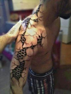 3d dark art tattoos of ripping through skin - Google Search