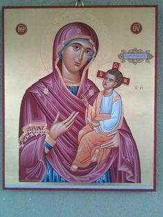 Virgin with child iconographer :Adamantia Karatza