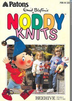 Noddy Knitting Pattern Book, RARE Noddy Knitting Pattern, Enid Blytons Noddy Knits - pinned by pin4etsy.com