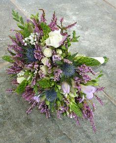 heather and thistle, Katie Gilman Floristry Design September 2012 Purple Wedding, Floral Wedding, Dream Wedding, Bride Bouquets, Bridesmaid Bouquet, Thistle Bouquet, September Colors, Outlander Wedding, Celtic Wedding