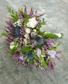 Heather bouquet...for me I'd prefer a hint of purple and more green / blue / whites