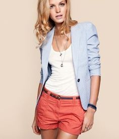 Seersucker blazer done right! Perfect warm weather topper. Fantastic with all colors of denim. And floral print. Everything really  www.styleforhire.com