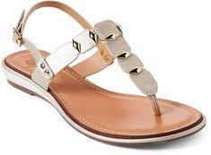 Gc Shoes Gold Quinn Thong Flat Sandals