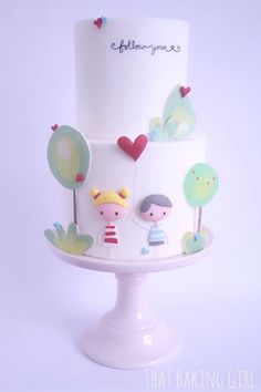 Simple beautiful cake (engagement?)