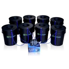 Deep Water Culture DWC Hydroponic Bubbler 8 Bucket Kit with 6 Lids by PowerGrow  Systems ** Click image for more details.
