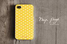 Apple iphone case for iphone iPhone 5 iphone 4 iphone 4s iphone 3Gs : Yellow polka dots on Etsy, 14,80 €