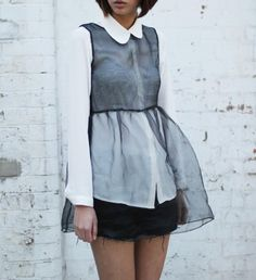 DIY sheer dress  what-do-i-wear:    Organza Baby Doll Dress by the whitepepper