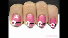 EASY Nail Design for SHORT Nails, via YouTube.