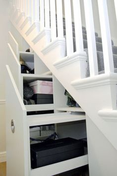 Clever and beautiful understairs storage!