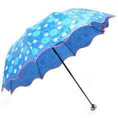 Purple Rain Folding Umbrellas Women With UV Protection Regenschirm Paraguas Plegable Beach Sun Waterproof Umbrella Fabric QQG177 #Affiliate