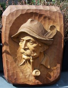 rare german wood carvings | RARE Black Forest Pipe Smooking Old Man Carved Wood German Antique ...