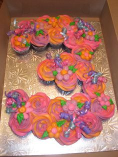 cake number 3 with cupcakes - Google Search