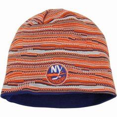 91b2b72410a Mens New York Islanders Reebok Orange Cuffless Knit Beanie