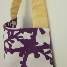Kid's Apron in Funky Purple Fabric Yellow Accents Free by LilaKids, $26.00