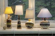 Cómo elaborar lámparas con materiales reciclables