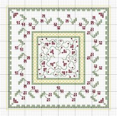 Rainburst Embroidery: Freebie Biscornu Pattern - Cherries