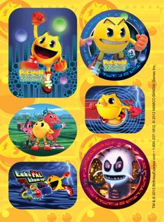 PAC-MAN and the Ghostly Adventures Sticker Sheets. #BirthdayExpress #Party #PacMan #Birthday
