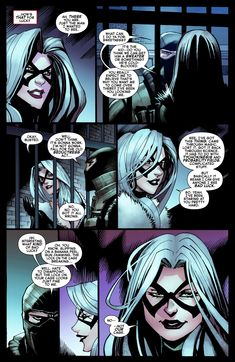 Felicia explains the complicated nature of her 'bad luck,' or tychokinesis, powers as part of her escape plan. Marvel Female Villains, Marvel Art, Marvel Comics, Spider Man 2018, Eden Girl, Black Cat Marvel, Comic Book Heroes, Comic Books, Marvel Women