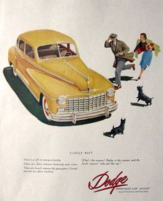 1948 Vintage Dodge Automobile Ad ~ Scottie Dogs