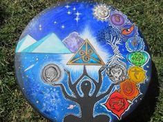 16 inch Vegan Shaman Drum by LuminousTribeHealing on Etsy