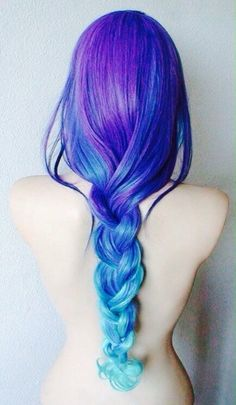 Beautiful braid #braids #bluehair