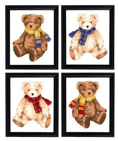 Teddy Bear Tattoos, Teddy Beer, Teddy Bear Nursery, Vintage Nursery Decor, Nursery Stickers, Teddy Bear Pictures, Vintage Teddy Bears, Baby Prints, Nursery Prints