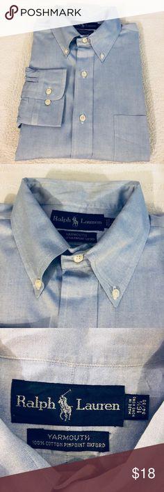 72498640ff0 Polo Ralph Lauren Blue Oxford Dress Shirt 16.5 Polo Ralph Lauren Solid Blue  Oxford Dress Shirt