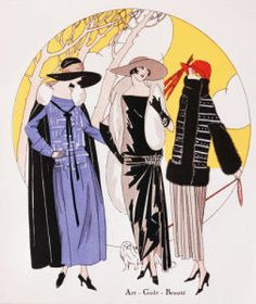 Crepe dress and Paletot by Lucien Lelong from Art Gout Beauté October 1922 by Anonymous