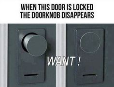door knob disappears when it is locked